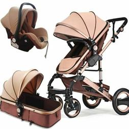 3 in 1 high view baby stroller with safety car seat