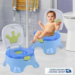 3-in-1 Potty Training Toilet Seat Baby Portable Toddler Chai