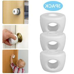 3 Pack Baby Safety Door Knob Covers DoorKnob Locks Child Chi