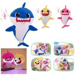 Baby Shark Plush LED Plush Toys Music Doll Sing English Song
