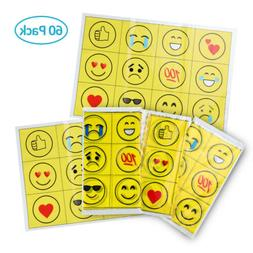 60PCS Baby Table Mats Smile Face Table Topper Stick-on Place