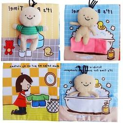 3D Baby Cloth Book Cartoon Bath Pattern Infant Early Develop