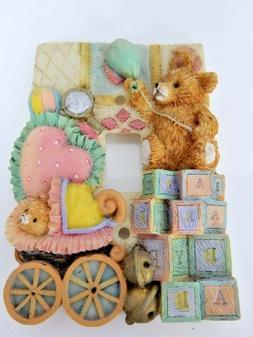 3D Baby Toddler Nursery Play Toy Bed Room Bear Light Switch
