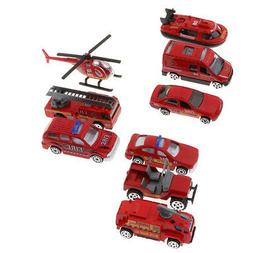 3PCS Alloy Fire Engine Vehicle Toy 1/64 Truck Car Model for