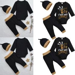 3PCS Set Newborn Baby Girls Boy First Gift Top + Pants Leggi