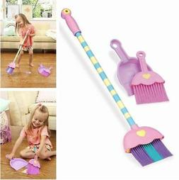 4-piece Toy Broom and Dustpan Set Cleaning Set for Toddlers