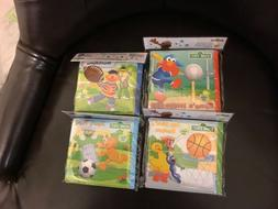 4- Sesame Street bath soft infant kid educational book New