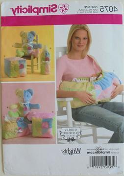 Simplicity 4075 Baby Carrier Diaper Bag Bottle Warmer Bear S