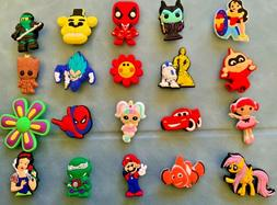 45 x DIFFERENT CARTOON DESIGNS of Jibbitz Shoe Charm made fo