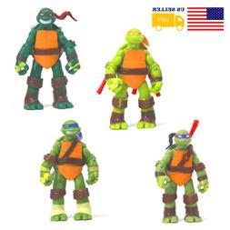 4Pc Teenage Mutant Ninja Turtles Action Figure Doll Toys Pla