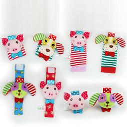 4Pcs/Set Cartoon Infant Toddler Baby Cloth Toy Piggy Dog Wri