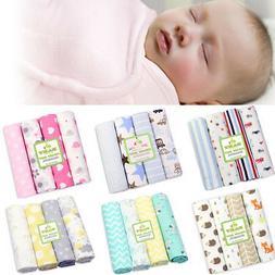 4X Newborn Baby Bed Sheets Bedding Set Crib Nursery Wrap Cot