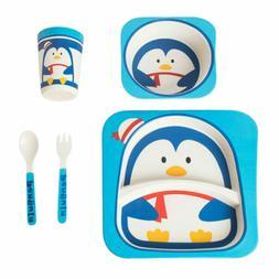 5 Pcs Children's Cutlery Set Kids Tableware Kit Kids Dinnerw