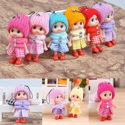 5 Pcs Kids Toys Soft Interactive Baby Dolls Toy Mini Doll Fo