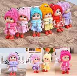 5Pcs Cute Kids Toys Soft Interactive Baby Dolls Toy Tiny Dol