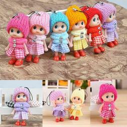 5Pcs Kids Toys Soft Interactive Baby Dolls Toy Mini Doll For