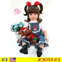 60cm Lovely Vinyl Reborn Toddler Baby Girl Toy Like Alive Fa