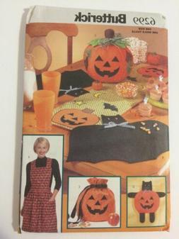 Butterick 6299 Fall Pumpkin Centerpiece Halloween Bat Placem
