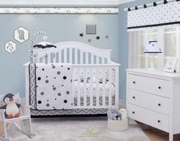 OptimaBaby 6PCS Balck White Pattern Baby Nursery Crib Beddin