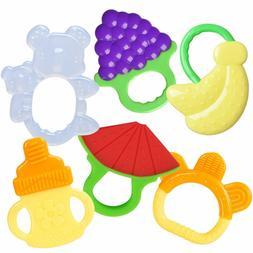 6PCS BPA Free Soft Baby Teething Toy Ergonomically Designed