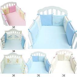 6Pcs Baby Crib Cot Bumper Toddler Bed Protector Cushion Nurs