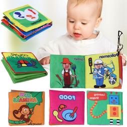 6PCS/Set Soft Cloth Books Rustle Sound Infant Educational St