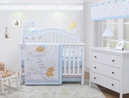 OptimaBaby 6PCS Teddy Bear Baby Nursery Crib Bedding Set