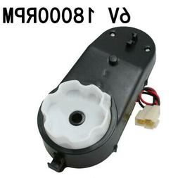 6V 18000 RPM Parts Gearbox For Ride On Car Bike Kids Toy Acc