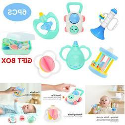 6x Baby Toys Music Cartoon Cart Rattles Horn Educational Dev