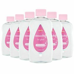 6x Johnsons Baby Moisturising Massage Oil 300ml Hypoallergen