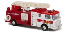 "7"" Fire Department Rescue Engine Ladder Truck Pull Action Di"