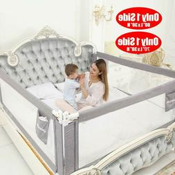 """70""""/80"""" Swing Down Bedrail Bed Rail Crib Toddlers Baby Child"""