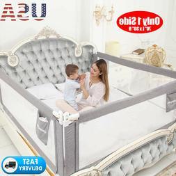 "70"" Swing Down Bedrail Bed Rail Crib Toddler Elderly Child S"
