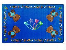 8' x 12' Baby Bears Educational Rug Tufted Nylon Day Care Sc