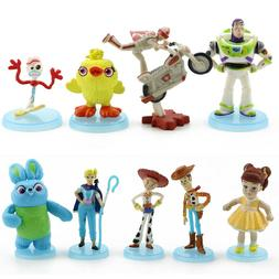 9 Pack Toy Story 4 Cake Toppers Figure Set Action Figures Pl