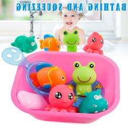 9 PC Funny Boys Girls Shower Toy Baby Bath Toys for Squirt T