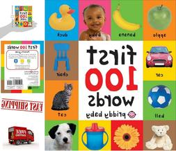 First 100  Words Board Book Learning For Baby Kids Bright Ch