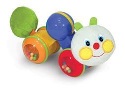 Melissa & Doug K's Kids Press and Go Inchworm Baby Toy - Rat