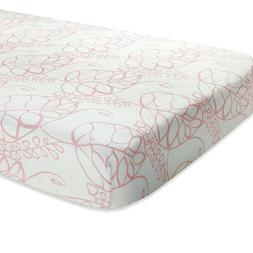"""Aden & Anais Bamboo Crib Sheet Tranquil Leaf 52""""x28"""" Pre"""