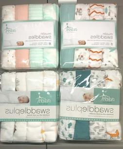 Aden by Aden + Anais Muslin Swaddleplus Baby Blanket, 100% C