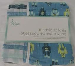 Aden by Aden + Anais Stroller Blanket Retro Robots 44x44 cot