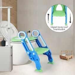Adjuatable Potty Training Toilet Seat with Step Stool Ladder