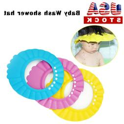 Adjustable Baby Kids Shampoo Bath Bathing Shower Cap Hat Was