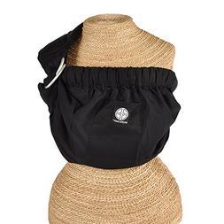 Balboa Baby Adjustable Sling - Black with Embroidery
