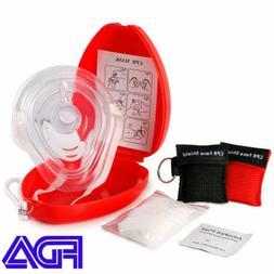 Adult/Child CPR Pocket Resuscitator Rescue Mask + 2 keychain
