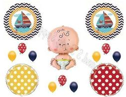 AHOY! It's A Boy Baby Shower Balloons Decoration Supplies Na