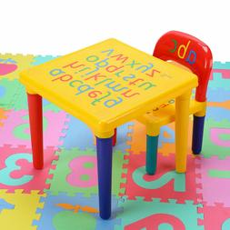 Alphabet ABC Children's Desk & Chair Set Child Kids Study Pr