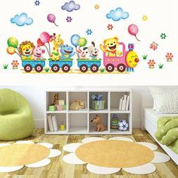 Animals DIY Train Wall Sticker for Kids Baby Room Nursery Ho