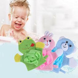 Animals Double-sided Children Bathing  Soft Gloves Baby Bath