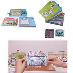 AR 3D Flash Cards Preschool Educational Toys Kit W/ Drawing
